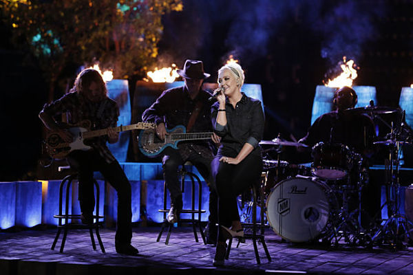 "THE VOICE -- ""Live Semis"" Episode 817A -- Pictured: Meghan Linsey -- (Photo by: Tyler Golden/NBC)"